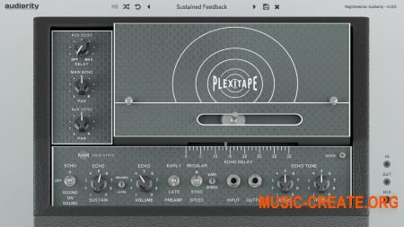 Audiority PlexiTape v1.0.1 WIN OSX (Team R2R) - аналоговая имитация ленточного эха