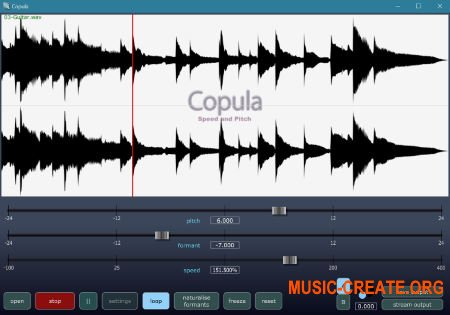 QuikQuak Copula v1.1.0 WiN OSX (Team R2R) - плагин изменения скорости и высоты тона