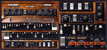 Adam Monroe Music Rotary Organ v1.3 VST AU AAX WIN OSX (Team DECiBEL) - виртуальный орган Hammond M3