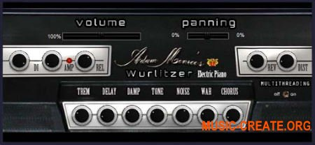 Adam Monroe Music Wurlitzer v2.0 VST AU AAX WIN OSX (Team DECiBEL) - виртуальное электронное пианино