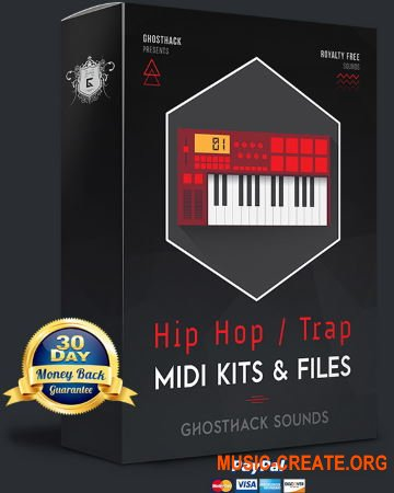 Ghosthack Hip Hop / Trap MIDI Kits & Files (MIDI)
