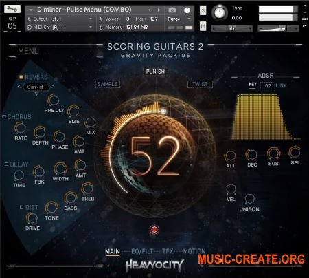 Heavyocity Scoring Guitars 2 (KONTAKT) - библиотека кинематографических гитар
