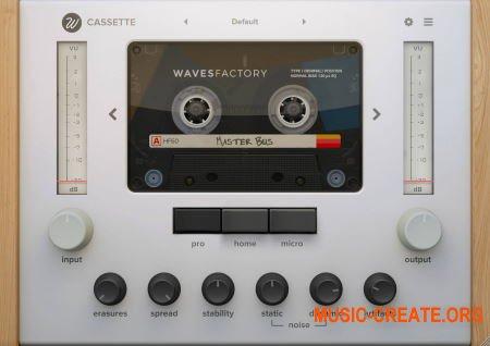 Wavesfactory Cassette v1.0.0 (Team R2R) - эмулятор кассетной деки