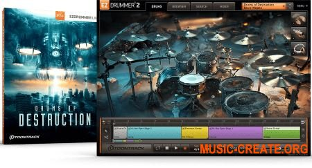 Toontrack Drums of Destruction EZX v1.0.0 - библиотека для EZdrummer
