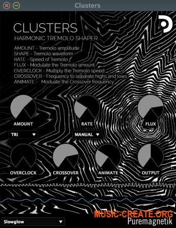Puremagnetik Clusters v1.0.1 VST AU WiN OSX (Team DECiBEL) - гармонический тремоло шейпер