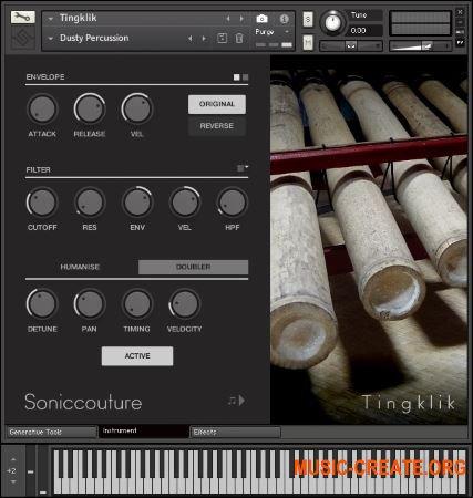 SonicCouture Tingklik v2.0.0 (KONTAKT) - библиотека бамбукового ударного инструмента