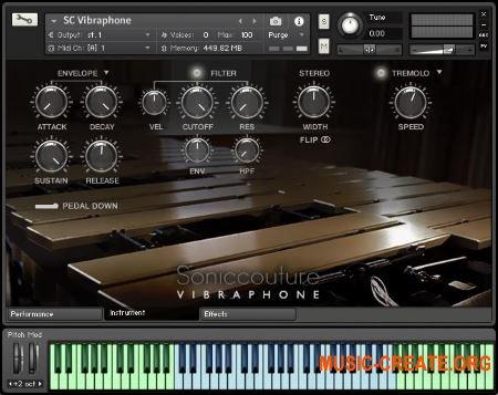 Soniccouture Vibraphone v2.0.0 (KONTAKT) - библиотека звуков вибрафона