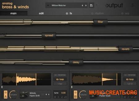 Output Analog Brass and Winds v1.0.1 (KONTAKT) - виртуальный инструмент