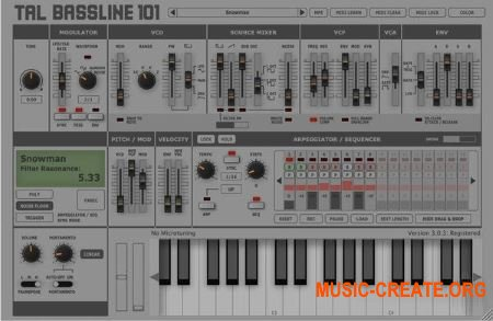 Togu Audio Line - TAL-BassLine-101 v1.34 (Win/OSX) - бас-синтезатор