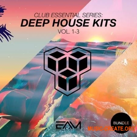 Essential Audio Media Club Essential Series - Deep House Kits Vol. 1-3 Bundle (WAV MIDi Presets) - сэмплы Deep House