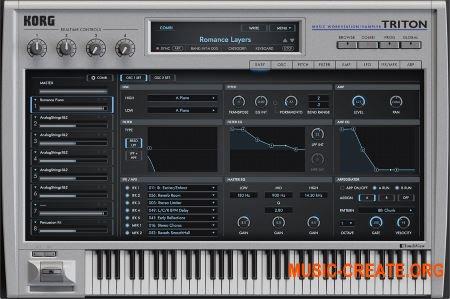 KORG TRITON v1.0.1 WIN OSX (Team R2R/CASHMERE) - синтезатор