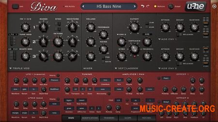 U-he - Diva v1.1 VSTi x86 x64 WiN (TEAM DYNAMiCS) - синтезатор