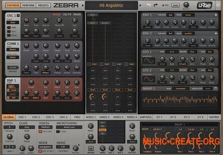 u-he Zebra 2 v2.9.0.9436 WIN OSX Regged (Team R2R) - модульный синтезатор