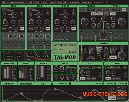 Togu Audio Line TAL-Mod v1.5.6 WiN OSX (Team R2R) - виртуальный аналоговый синтезатор