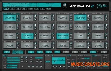 Rob Papen Punch2 v1.0.1a (Team R2R) - виртуальная драм-машин