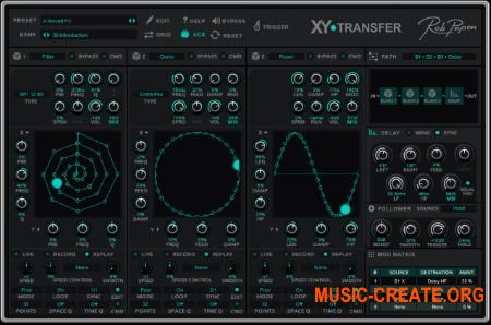 Rob Papen XY-Transfer v1.0.0 (Team R2R) - плагин Multi FX