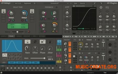 HY-Plugins HY-Delay4 v1.0.41 WiN OSX (Team R2R) - мульти дилэй