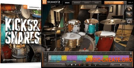 Toontrack Kicks & Snares EZX v1.0.0 (EZX Sound Expansion) - библиотека ударных