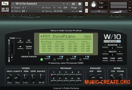 Júnior Porciúncula W-10 (KONTAKT) - библиотека синтезатора Korg 01 / W