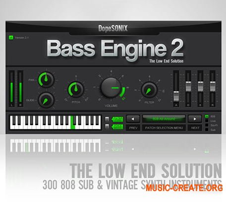 DopeSONIX Bass Engine v2.1 RETAiL (SYNTHiC4TE) - бас-синтезатор