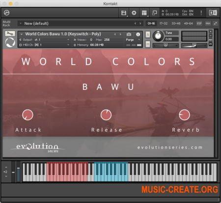 Evolution Series World Colors Bawu v1.0 (KONTAKT) - библиотека китайского духового инструмента