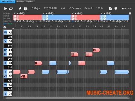 Music Developments Melodya v1.0.1 WIN OSX (Team R2R) - генератор мелодий / редактор мотивов