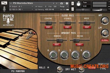 Paper Stone Instruments Marimba (KONTAKT) - библиотека Маримбы