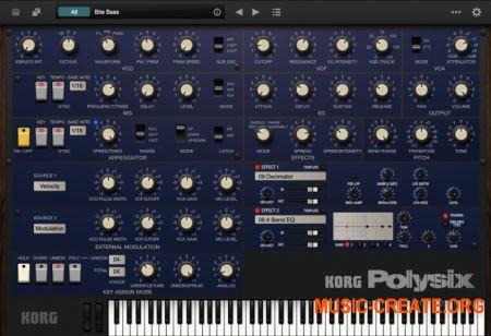 KORG Polysix v2.0.5 (Team R2R) - полифонический синтезатор