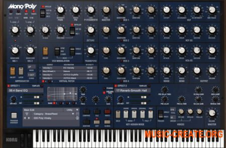 KORG Mono/Poly v2.0.2 (Team R2R) - 4VCO синтезатор
