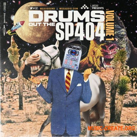 MSXII Sound - Drums Out Of the SP-404 Vol.1 (WAV) - драм сэмплы