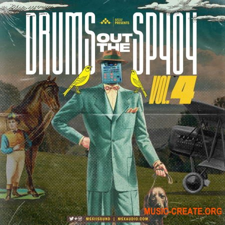MSXII Sound - Drums Out The SP404 Vol.4 (WAV) - сэмплы ударных