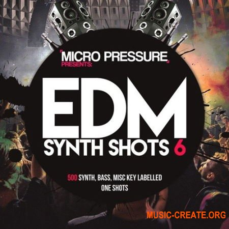 HY2ROGEN EDM Synth Shots 6 (MULTiFORMAT) - сэмплы EDM, Dubstep, Wobble, Trap, Progressive, Future House