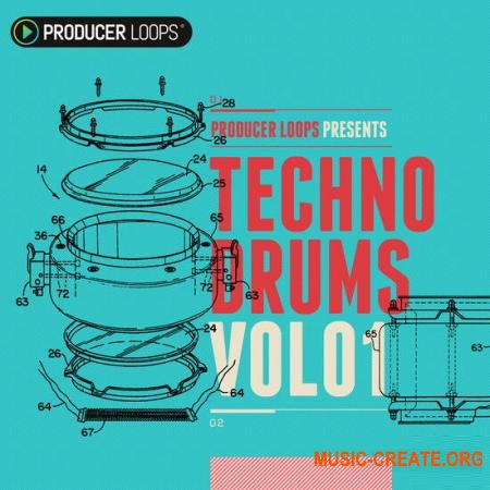 Producer Loops Techno Drums Vol 1 (MULTiFORMAT) - сэмплы Techno
