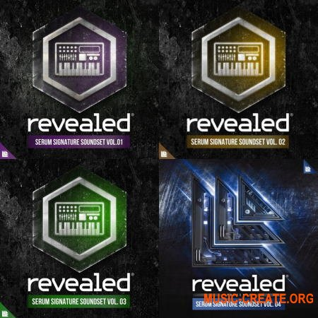 Revealed Recordings Revealed Serum Signature Soundset Vol 1-4 (WAV SERUM) - сэмплы EDM
