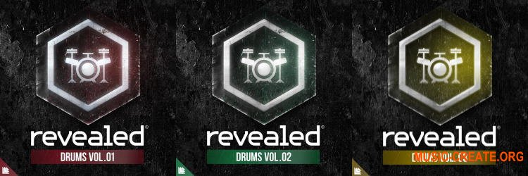 Revealed Recordings Revealed Drums Vol. 1-3 (WAV) - сэмплы ударных