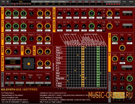 KX-Synth-X16 2.5 от KX77FREE - модульный синтезатор