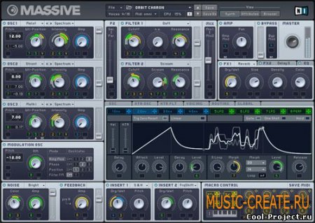 Massive 1.1.5 от Native Instruments (NI) - синтезатор