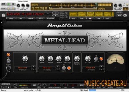 AmpliTube Metal 1.0.3 от IK Multimedia - Искажение / Overdrive / Усилитель