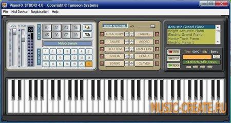 PianoFX Studio 4.0 от Tanseon Systems - синтезатор фортепиано