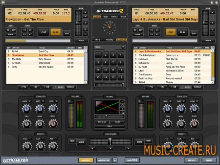 UltraMixer Professional v2.3.8 от UltraMixer Digital Audio Solutions - инструмент dj