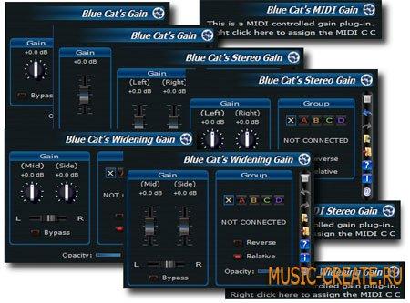 Blue Cat's Gain Suite  от Blue Cat Audio - утилита
