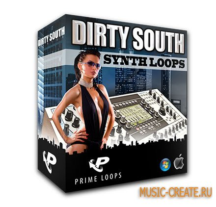 Dirty South Synth Loops от Prime Loops - сэмплы Dirty South, Hip Hop, Synth
