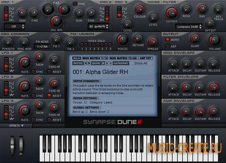 Synapse Audio DUNE VSTi 1.4.0 x86/x64  (TEAM ASSiGN) - синтезатор субстрактивный/виртуальный-аналоговый