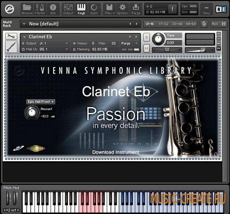 Clarinet Eb от Vienna Symphonic Library - кларнет VST (KONTAKT)