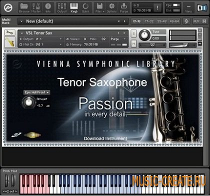 Tenor Saxophone от Vienna Symphonic Library - саксофон тенор VST (KONTAKT)