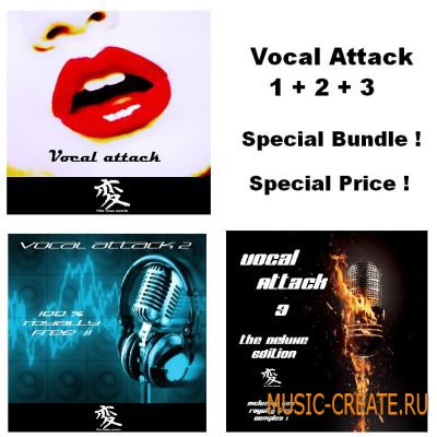 Vocal Attack: Special Bundle от Wide Range Electric - сэмплы вокал
