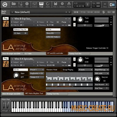 LA Scoring Strings Lite Violins I & II Complete Section от AudioBro - библиотека сэмплов Скрипки (KONTAKT)