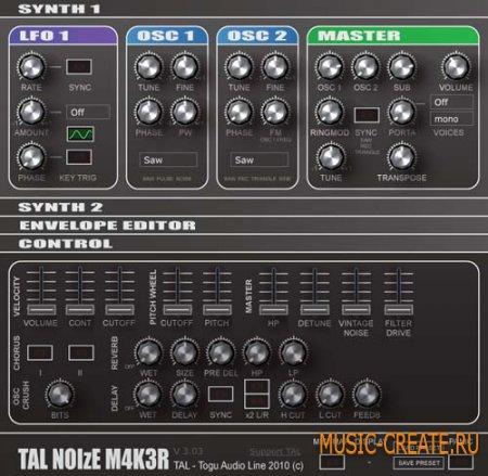 NoiseMaker v3.04 от Togu Audio Line - синтезатор