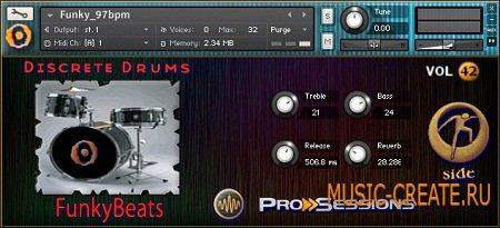 Pro Sessions Vol.42 Funky Beats Loops от M-Audio - звуки Funky Beats (KONTAKT)