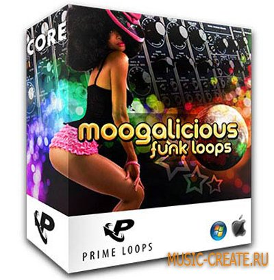 Moogalicious Funk Loops от Prime Loops - сэмплы Latin & Funk, Dirty South, Hip Hop, House, Synth (MULTiFORMAT)